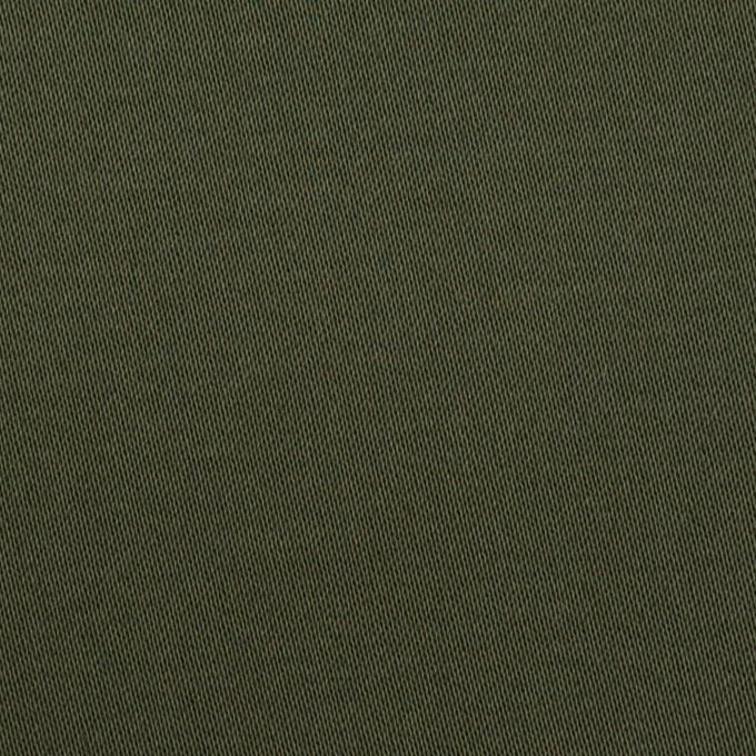 コットン&ポリウレタン×無地(ディープグリーン)×サテンストレッチ イメージ1