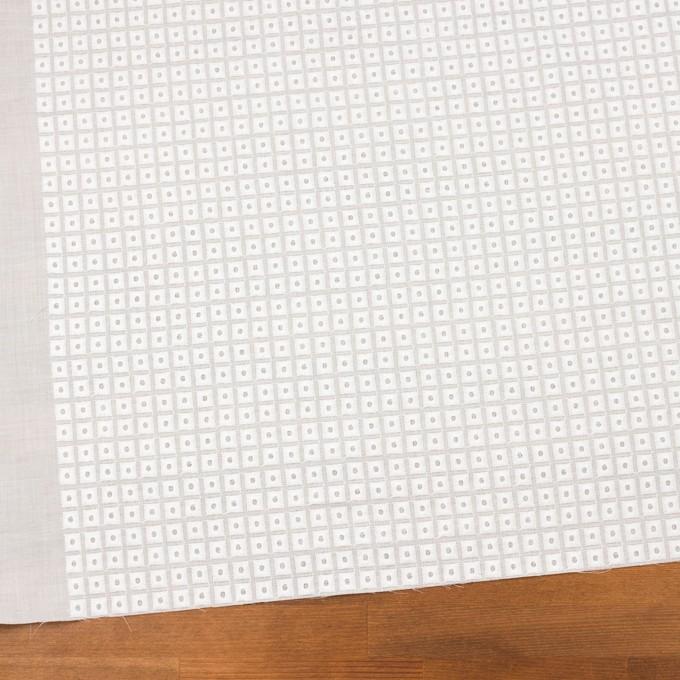 コットン×スクエア(ホワイト)×ローン刺繍_全2色 イメージ2