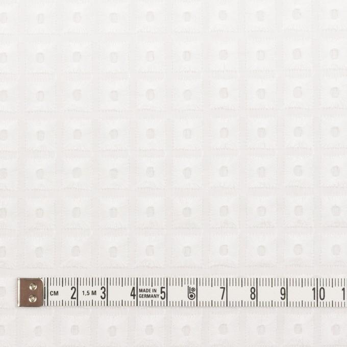 コットン×スクエア(ホワイト)×ローン刺繍_全2色 イメージ4