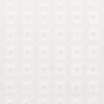 コットン×スクエア(ホワイト)×ローン刺繍_全2色