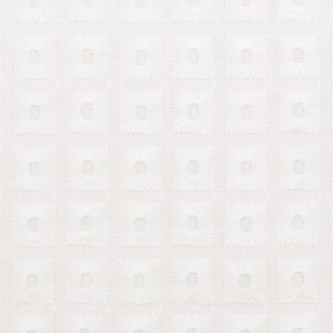 コットン×スクエア(ホワイト)×ローン刺繍_全2色 イメージ1