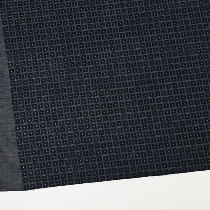 コットン×スクエア(ダークネイビー)×ローン刺繍_全2色 イメージ2