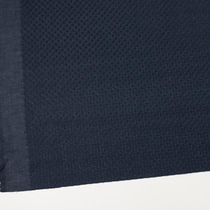 コットン×幾何学模様(ネイビー)×ローン刺繍 イメージ2