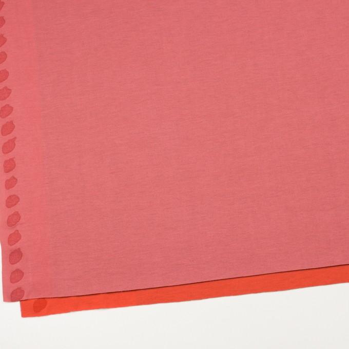 テンセル&ポリエステル×無地(コーラルピンク&パッションオレンジ)×Wフェイス天竺ニット(フォームラミネート加工)_全2色 イメージ2