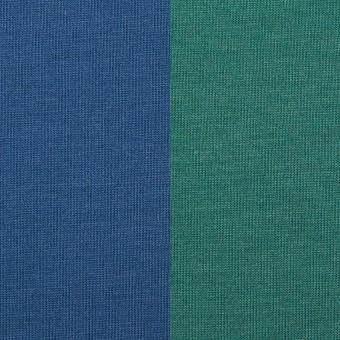 テンセル&ポリエステル×無地(マリンブルー&テールグリーン)×Wフェイス天竺ニット(フォームラミネート加工)_全2色