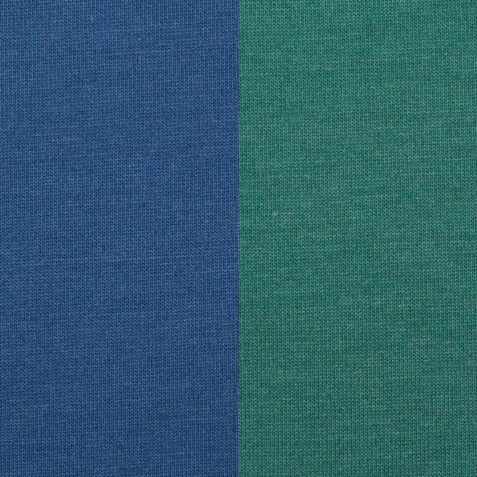 テンセル&ポリエステル×無地(マリンブルー&テールグリーン)×Wフェイス天竺ニット(フォームラミネート加工)_全2色 イメージ1