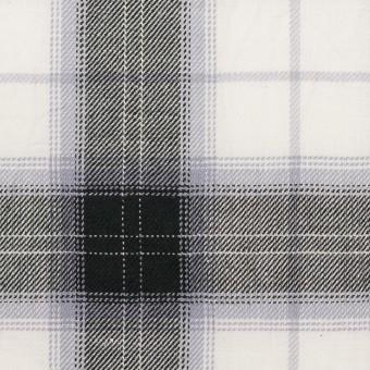 コットン&ナイロン×チェック(ブルーラベンダー&ブラック)×サージワッシャー