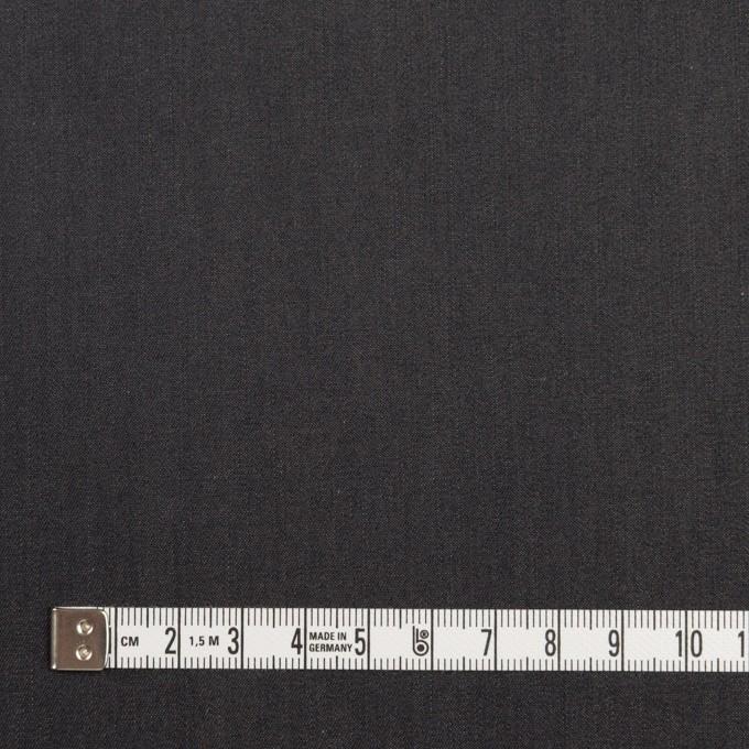 コットン&キュプラ×無地(チャコール)×シャンブレー・ギャバジン_イタリア製 イメージ4
