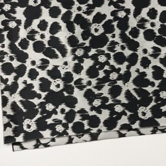 ポリエステル&ナイロン×フラワー(シルバー&ブラック)×形状記憶ジャガード_全2色 サムネイル2