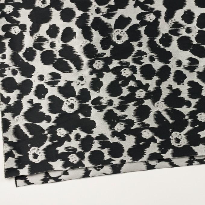 ポリエステル&ナイロン×フラワー(シルバー&ブラック)×形状記憶ジャガード_全2色 イメージ2