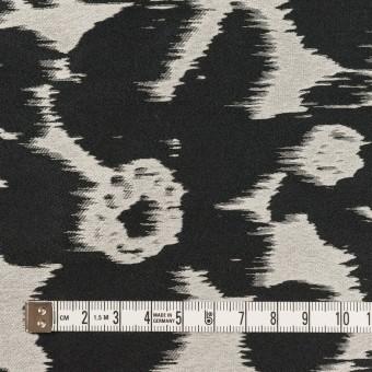 ポリエステル&ナイロン×フラワー(シルバー&ブラック)×形状記憶ジャガード_全2色 サムネイル4