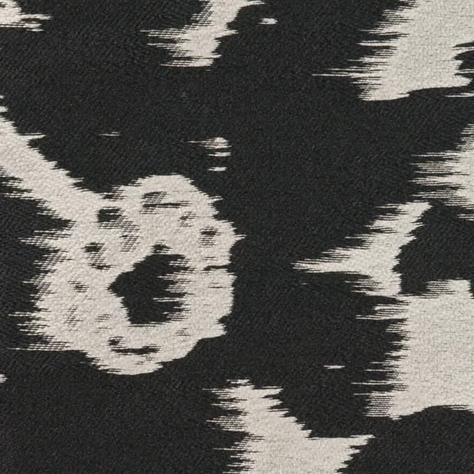 ポリエステル&ナイロン×フラワー(シルバー&ブラック)×形状記憶ジャガード_全2色 イメージ1