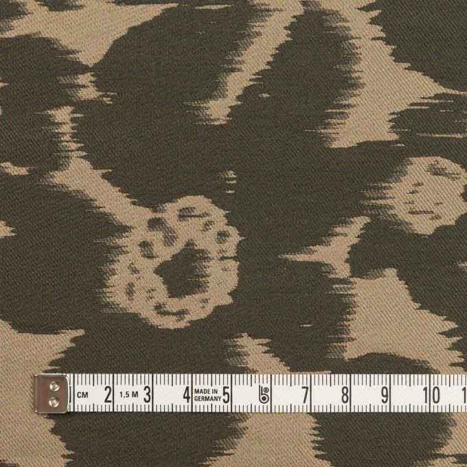 ポリエステル&ナイロン×フラワー(オークル&オリーブドラブ)×形状記憶ジャガード_全2色 イメージ4