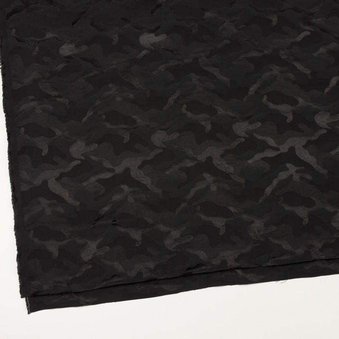 コットン&ナイロン×迷彩(ブラック)×ジャガード_全2色 イメージ2