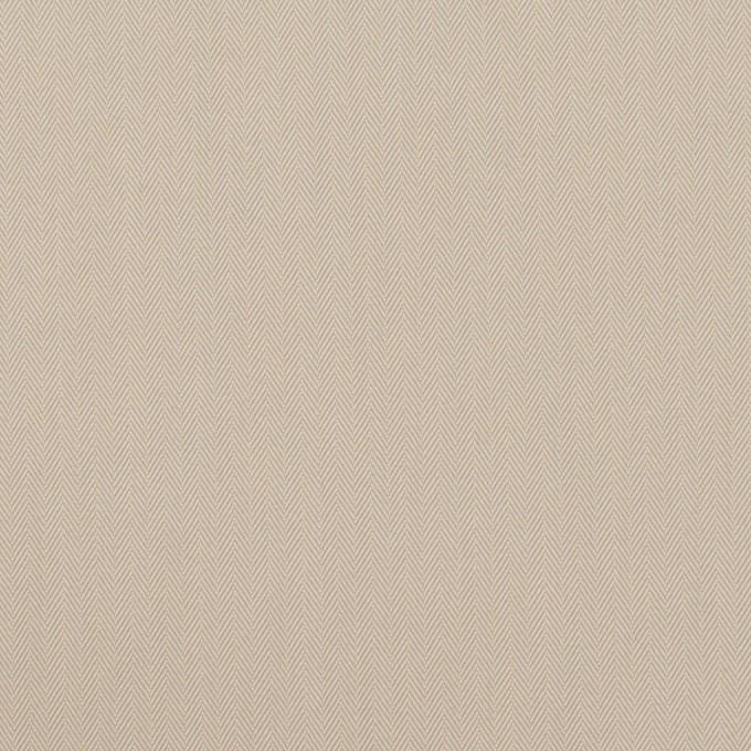 コットン&ポリアミド混×無地(グレイッシュベージュ)×ヘリンボーン・ストレッチ_全2色_イタリア製 イメージ1