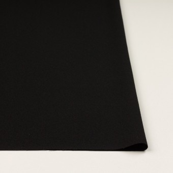 トリアセテート&ポリエステル×無地(ブラック)×バックサテンジョーゼット サムネイル3