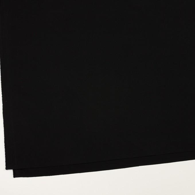ポリエステル&ポリウレタン×無地(ブラック)×サージストレッチ イメージ2