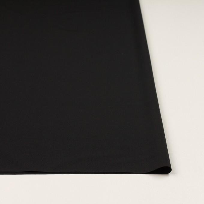 ポリエステル&ポリウレタン×無地(ブラック)×サージストレッチ イメージ3