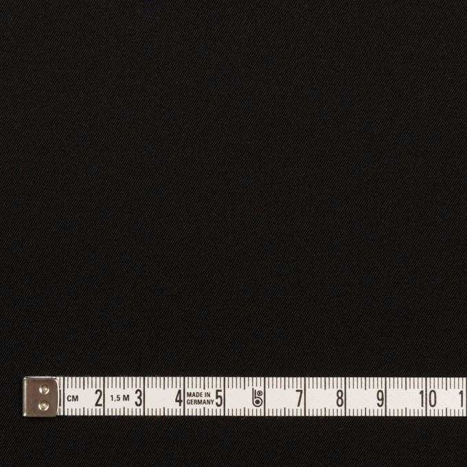 ポリエステル&ポリウレタン×無地(ブラック)×サージストレッチ イメージ4