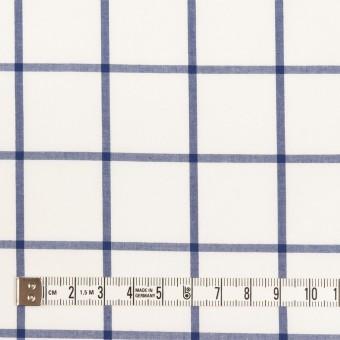 コットン×チェック(ブルー)×ローン サムネイル4