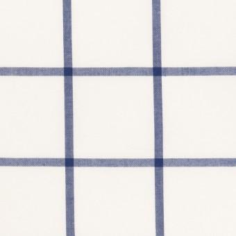 コットン×チェック(ブルー)×ローン