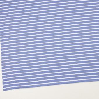 コットン×ボーダー(ヒヤシンスブルー&ホワイト)×天竺ニット_全2色 サムネイル2