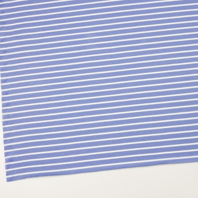 コットン×ボーダー(ヒヤシンスブルー&ホワイト)×天竺ニット_全2色 イメージ2