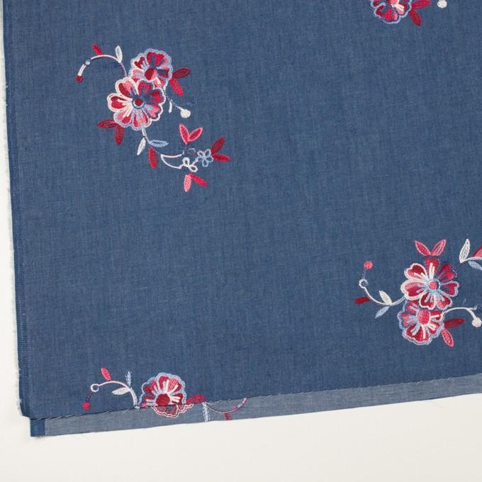 コットン×フラワー(アッシュブルー)×ダンガリー刺繍 イメージ2