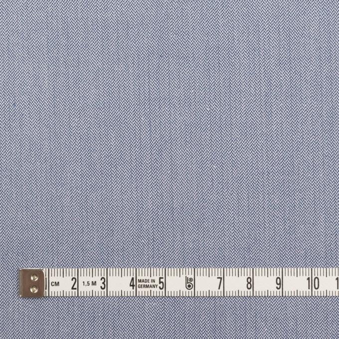 コットン×無地(ブルー)×ヘリンボーン イメージ4