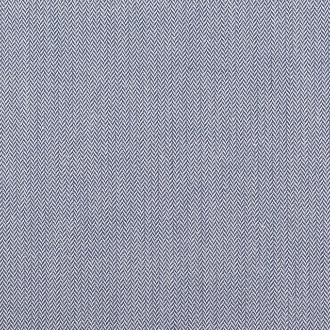 コットン×無地(ブルー)×ヘリンボーン イメージ1
