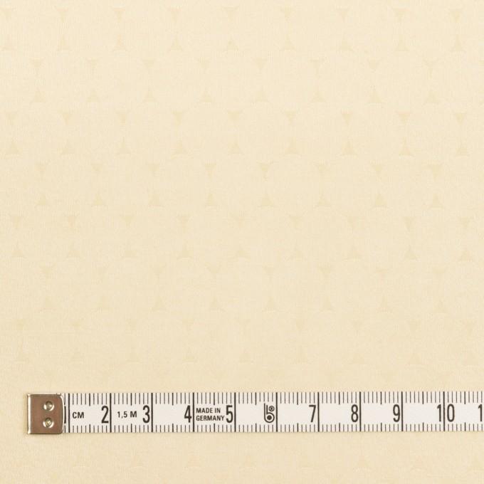 コットン&シルク混×サークル(クリーム)×サテンジャガード イメージ4