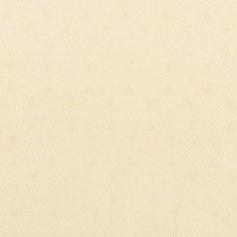 コットン&シルク混×サークル(クリーム)×サテンジャガード