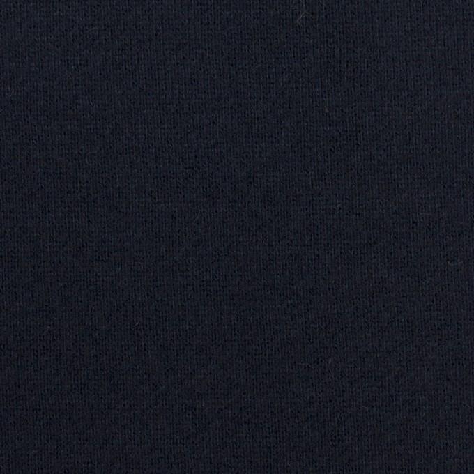 コットン×無地(ダークネイビー)×裏毛ニット イメージ1