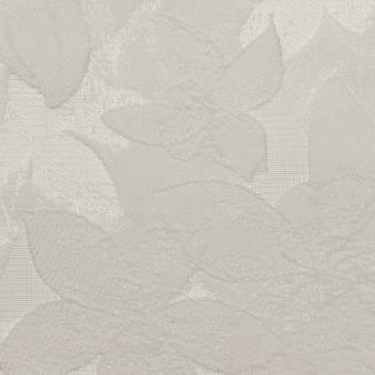 ポリエステル&ナイロン×フラワー(シルバー)×ジャガード