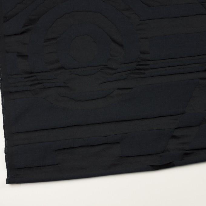 コットン&ポリエステル×幾何学模様(ダークネイビー)×二重ジャガード_パネル イメージ2