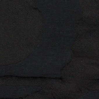 コットン&ポリエステル×幾何学模様(ダークネイビー)×二重ジャガード_パネル