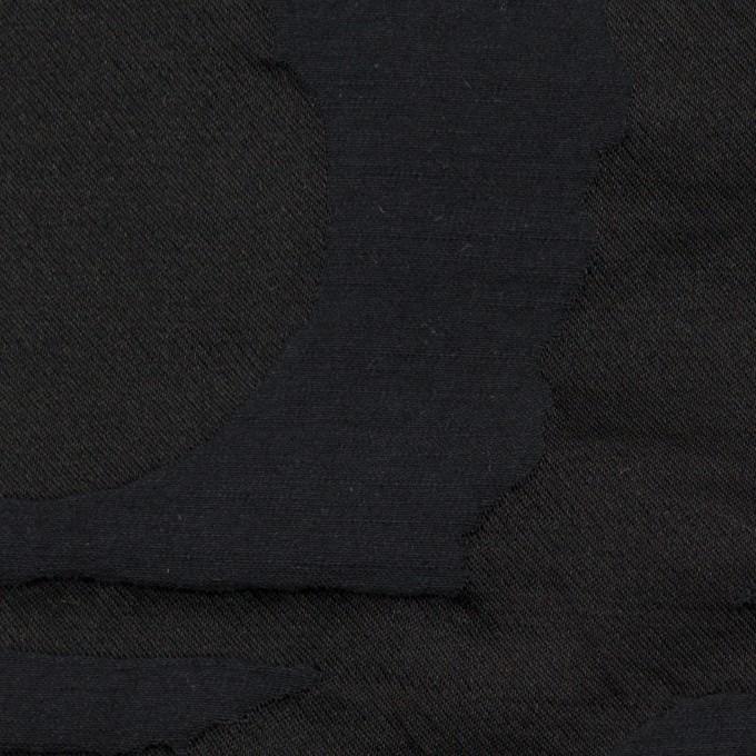 コットン&ポリエステル×幾何学模様(ダークネイビー)×二重ジャガード_パネル イメージ1
