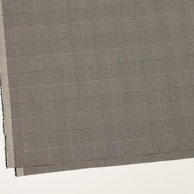 コットン&ポリエステル混×チェック(アイボリー&ブラック)×千鳥格子ストレッチ イメージ2