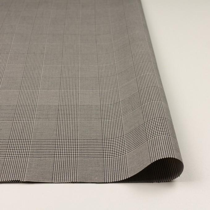 コットン&ポリエステル混×チェック(アイボリー&ブラック)×千鳥格子ストレッチ イメージ3
