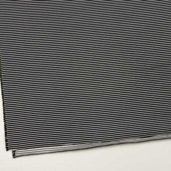 ポリエステル&アクリル×ボーダー(シルバー&ブラック)×二重ジャガード サムネイル2
