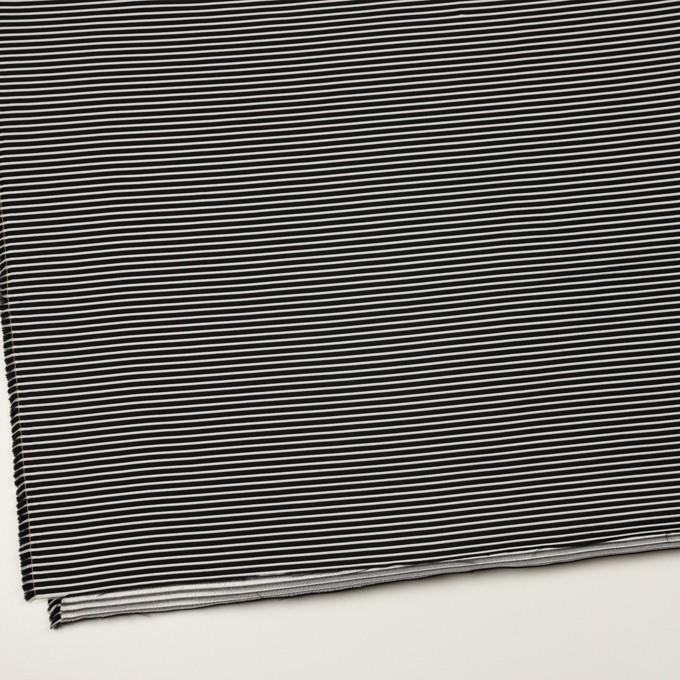 ポリエステル&アクリル×ボーダー(シルバー&ブラック)×二重ジャガード イメージ2