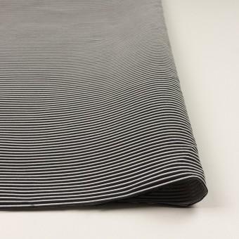 ポリエステル&アクリル×ボーダー(シルバー&ブラック)×二重ジャガード サムネイル3