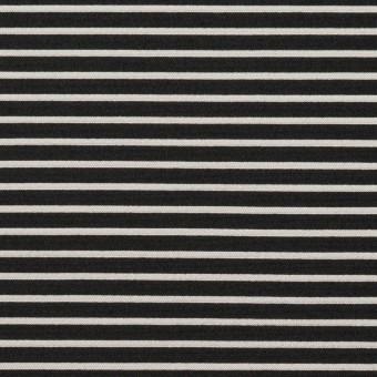 ポリエステル&アクリル×ボーダー(シルバー&ブラック)×二重ジャガード サムネイル1