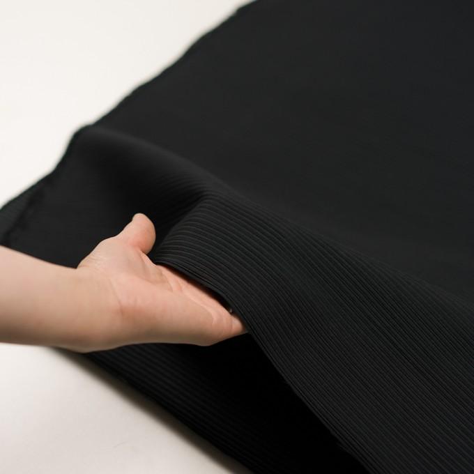 ポリエステル&アクリル×ボーダー(ブラック)×二重ジャガード イメージ5