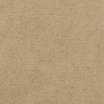 コットン&リネン×無地(カーキ)×厚オックスフォード