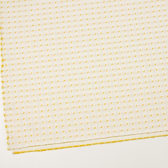 ポリエステル&コットン×千鳥格子(クリームイエロー&サンフラワー)×ジャガード イメージ2