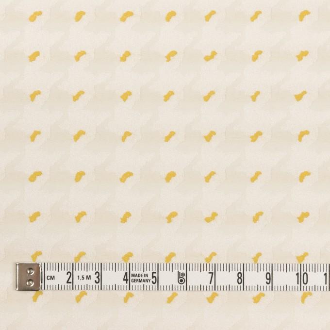 ポリエステル&コットン×千鳥格子(クリームイエロー&サンフラワー)×ジャガード イメージ4