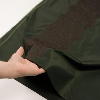 ポリエステル×レース(ディープグリーン&ブラウン)×形状記憶タフタ刺繍 サムネイル5