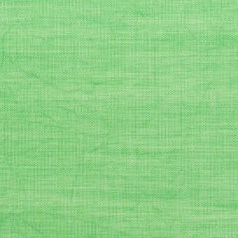 コットン&テンセル×無地(フレッシュグリーン)×ボイルワッシャー_全3色