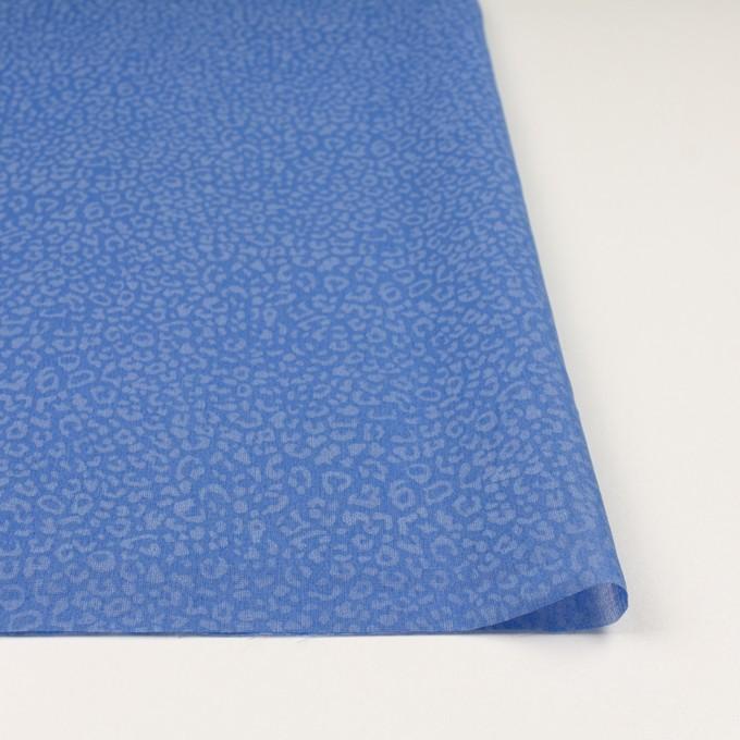 コットン×レオパード(ブルー)×ボイル イメージ3
